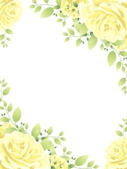 Mooie bloem frame achtergrond