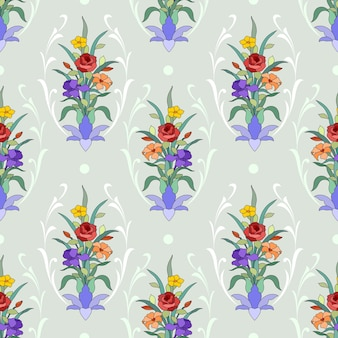 Mooie bloem ornament naadloze patroon.