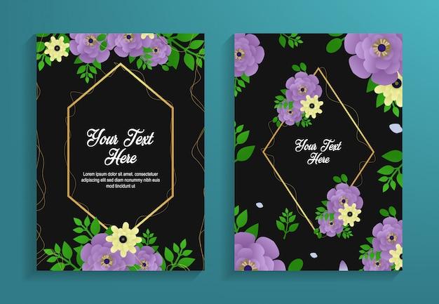 Mooie bloem patroon sjabloon folder