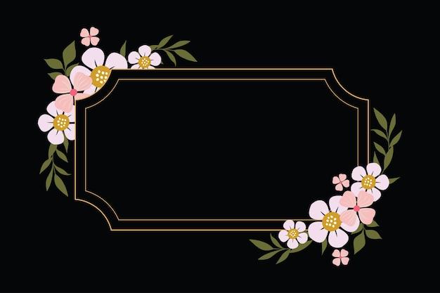 Mooie bloemen achtergrond sjabloon