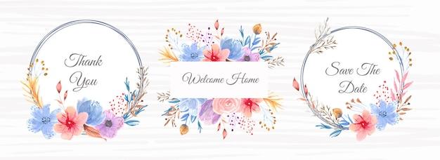 Mooie bloemen aquarel frame banner