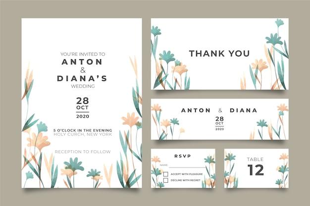Mooie bloemen bruiloft briefpapier