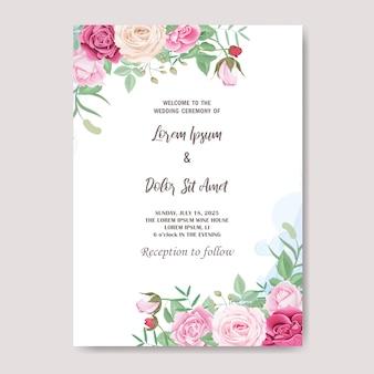 Mooie bloemen bruiloft uitnodigingskaart