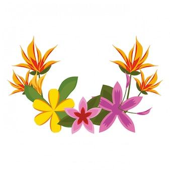 Mooie bloemen cartoon
