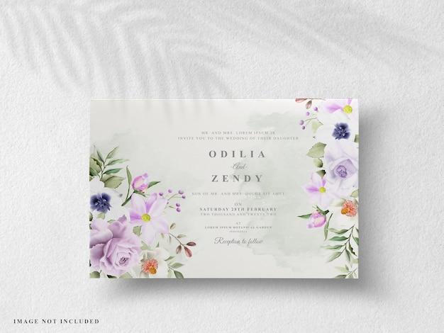Mooie bloemen huwelijksuitnodigingen