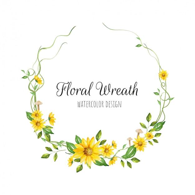 Mooie bloemen krans