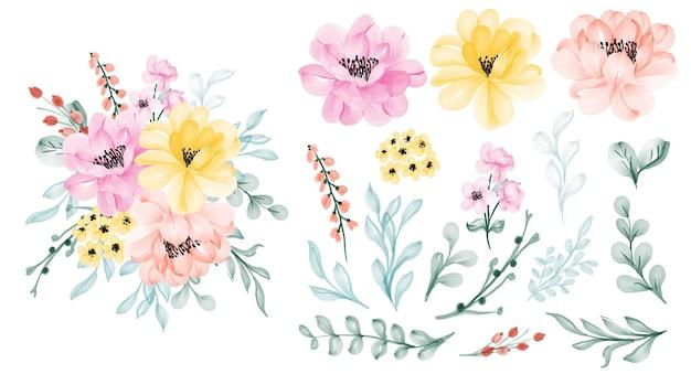 Mooie bloemen set