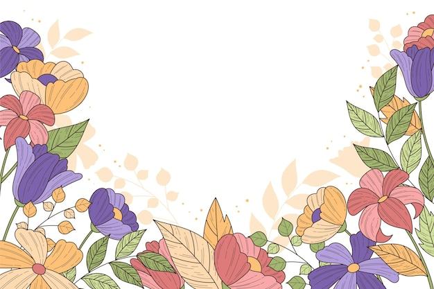 Mooie bloemenachtergrond met exemplaarruimte