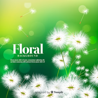 Mooie bloemenachtergrond met realistisch ontwerp