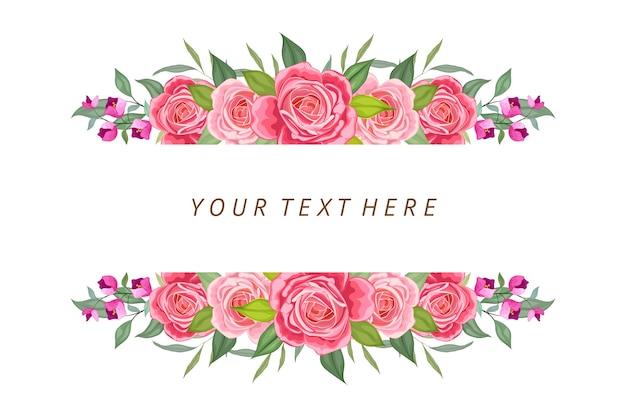 Mooie bloemenachtergrond met tekstruimte