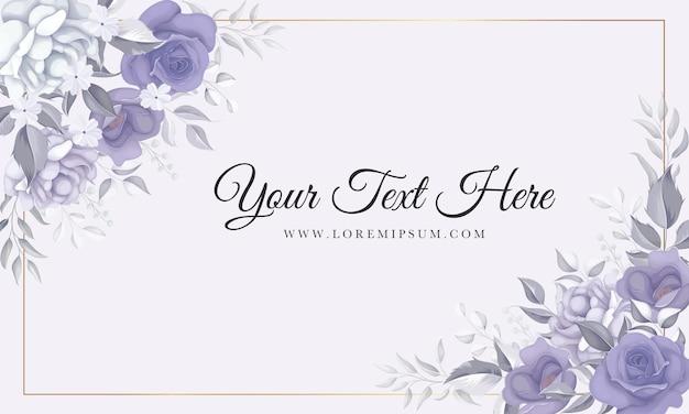 Mooie bloemenachtergrond met zacht bloemenornament