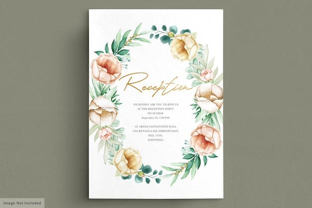 Mooie bloemenboeketten en kranswaterverf