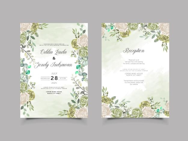 Mooie bloemenhuwelijksuitnodigingskaart