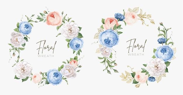 Mooie bloemenkrans voor bruiloft en decoratie