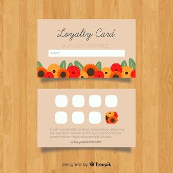 Mooie bloemenloyaliteitskaart met moderne stijl
