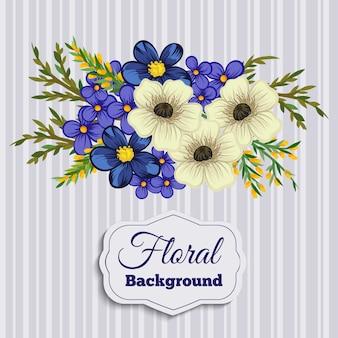 Mooie bloemenontwerp. vectorillustratie