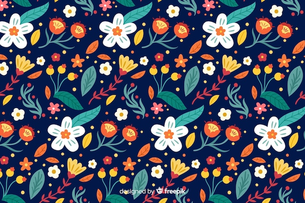 Mooie bloemenontwerpachtergrond