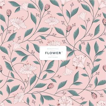 Mooie bloemenpatroon vector sjabloon
