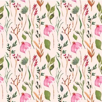 Mooie bloemenwaterverf naadloos patroon