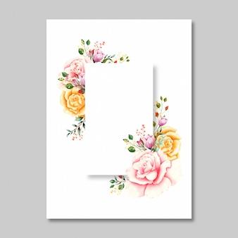Mooie bloemkaart in waterverf