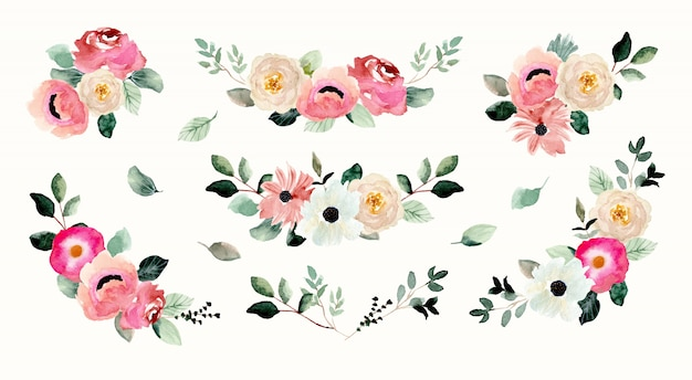 Mooie bloemstuk aquarel collectie