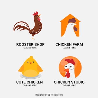 Mooie boerderij dierlijke logo's