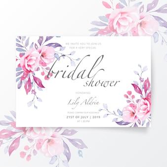 Mooie bruids douche uitnodiging sjabloon