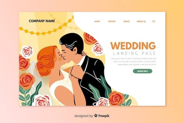 Mooie bruiloft bestemmingspagina