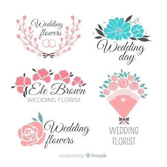 Mooie bruiloft bloemist logo's