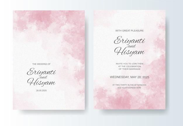 Mooie bruiloft kaart aquarel achtergrond met splash
