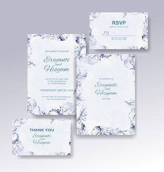 Mooie bruiloft kaart aquarel achtergrond met splash Premium Vector