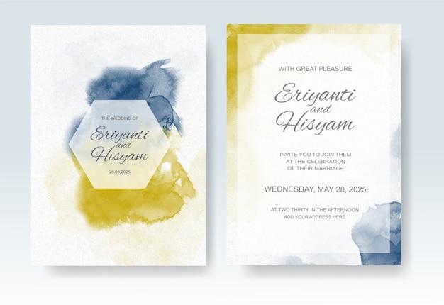 Mooie bruiloft kaart aquarel stijl