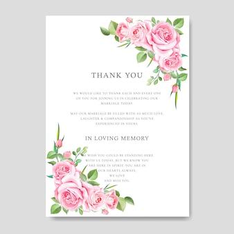Mooie bruiloft kaart met bloemen en bladeren