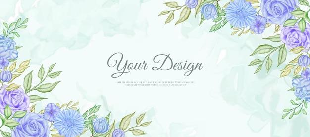 Mooie bruiloft kleurrijke bloemen banner achtergrond