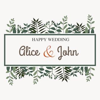 Mooie bruiloft uitnodiging. huwelijksuitnodiging