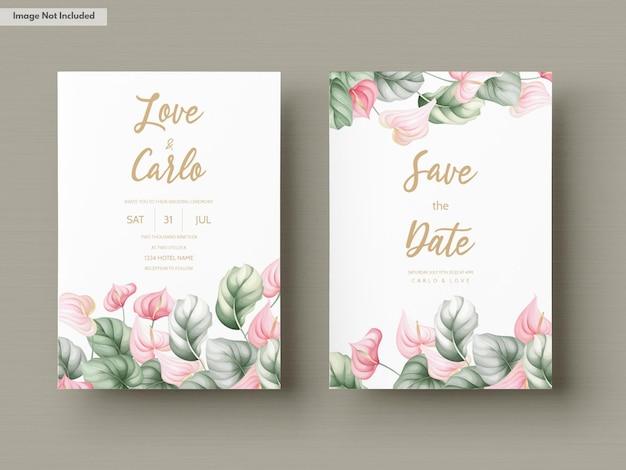 Mooie bruiloft uitnodiging kaartensjabloon