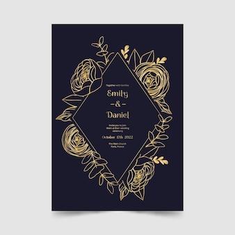 Mooie bruiloft uitnodiging sjabloon
