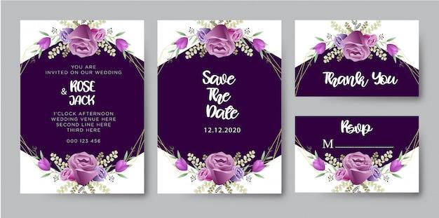 Mooie bruiloft uitnodigingen sjabloon