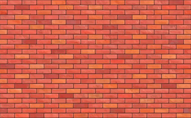 Mooie bruine blok bakstenen muur naadloze patroon textuur achtergrond.