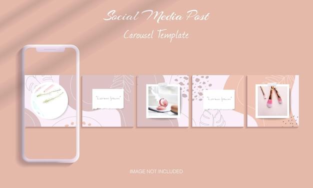 Mooie bundel met instagram-carrouselpostsjabloon