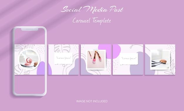 Mooie bundel met instagram-carrouselsjabloon