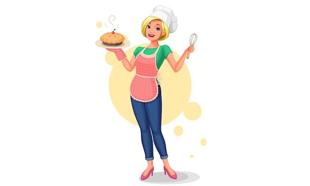 Mooie chief huisvrouw illustratie