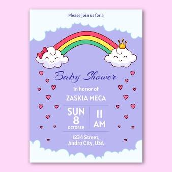 Mooie chuva de amor baby showeruitnodiging