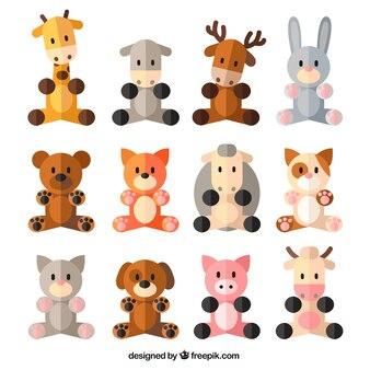 Mooie collectie van de dieren in plat design