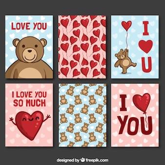 Mooie collectie van valentijnsdag kaarten