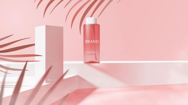 Mooie cosmetische spray sjabloon voor spandoek