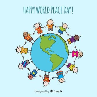 Mooie dag van vredesachtergrond