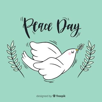 Mooie dag van vredessamenstelling met schattige letters