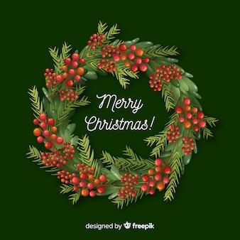 Mooie de decoratieachtergrond van de kerstmiskroon