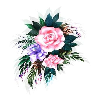 Mooie decoratieve bloemachtergrond